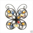 Butterfly Iron Candleholder - iron, jeweled candle holder,  a rare beauty!