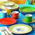 16-piece Picasso Lines Dinnerware - Porcelain Dinnerware Set