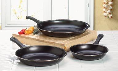 Non-Stick Frying Pan Set - Set of 3 Frying Pans - Nonstick Frying Pans