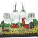 Country Rooster Cruet Set - Country Decor - Rooster Cruet Set