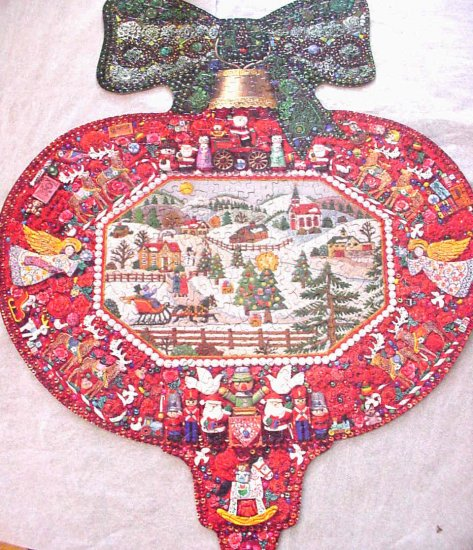 Springbok Christmas Ornament Puzzle Complete