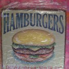 NEW (RETRO VINTAGE) HAMBURGER Cafe /Diner Large Metal Sign
