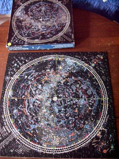 SOLD! Springbok Puzzle  MAP of the UNIVERSE Complete! 500 Pieces Astromomy / Stars / Galaxy Interest