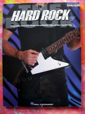 The Hard Rock Book by Tony Bacon Song Book 78 EASY Songs 200 Pages