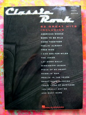 Classic Rock Song Book 62 Songs Hal Leonard  272 Pages!