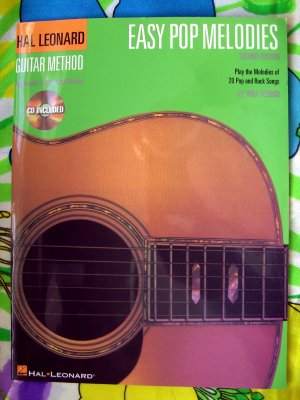 On SALE!  Easy Pop Melodies 2nd Edition Songbook for Guitar by Hal Leonard Method with CD