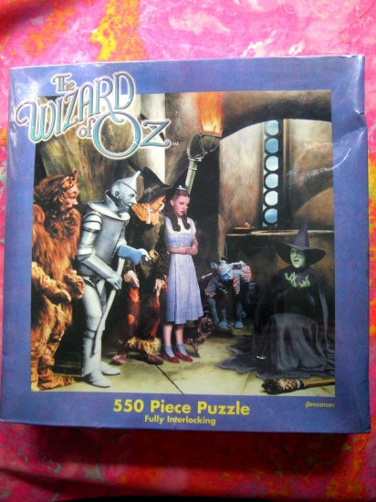 SOLD! Sealed NEW ~ Wizard of Oz 550 Piece Puzzle Dorothy Wicked Witch Toto Lion