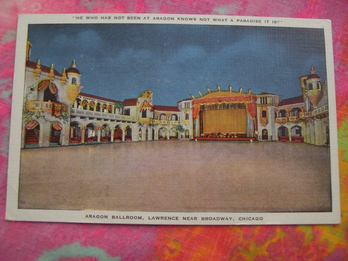 Aragon Ballroom, Lawrence Near Broadway Chicago Illinois Postcard Linen Unused