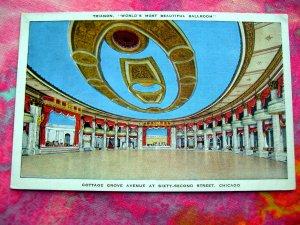 Trianon World's Most Beautiful Ballroom Chicago Illinois IL Postcard Unused