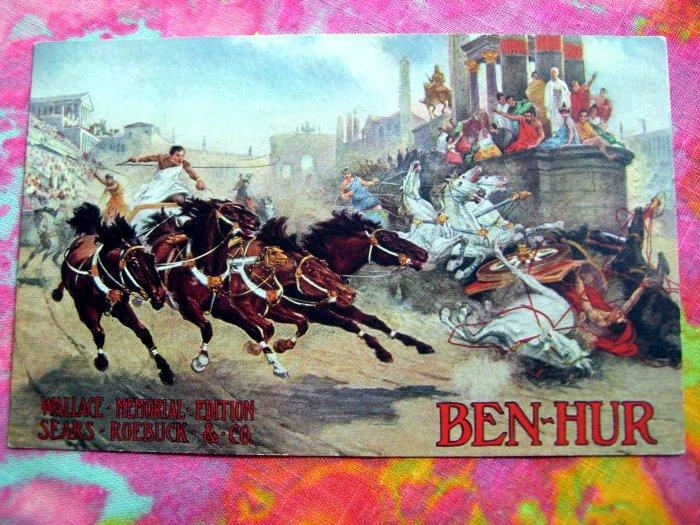 Promo Postcard for the Movie  BEN HUR Wallace Memorial Edition