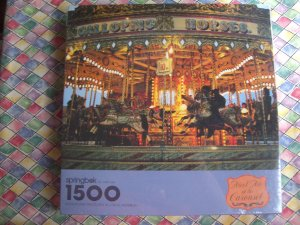 NEW Sealed Springbok 1500 Piece Puzzle Meet Me at Carousel PZL9007 MINT!