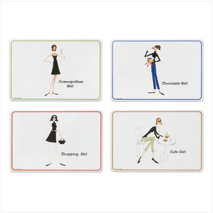 The Girl's 4 pc Placemat Set