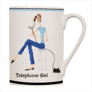 Telephone Girl Mug