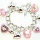 Pink Charm Bracelet