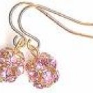 Golden Pink Earrings