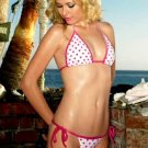 NEW Printed Hearts Triangle Top with Tie Sides Bottom Bikini