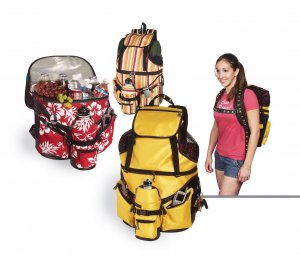 NEW Beach Bag Deluxe - Red W/Sports Bottle