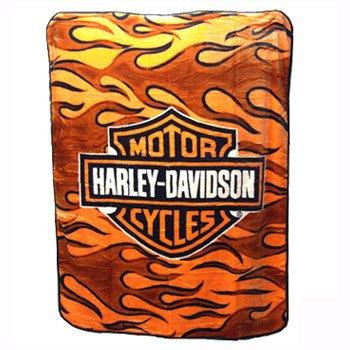 NEW HARLEY DAVIDSON® SUPER PLUSH THROW-BLANKET