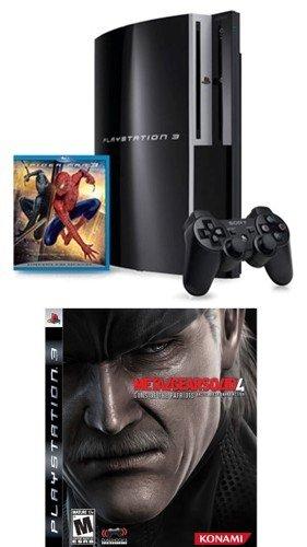 PlayStation 3 40GB w/ Bonus Spider-Man 3 (Blu-ray) and Metal Gear Solid 4: Guns of the Patriots