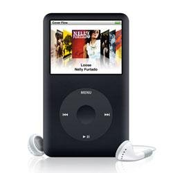 Apple iPod classic 80GB Portable MP3 Player, Generation 6 - Black or Silver