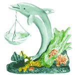 Colorful Dolphin Oil Warmer