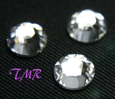 12ss Swarovski Rhinestones  HOT FIX 144 pcs ~CRYSTAL~