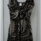 Brown and cream print sundress