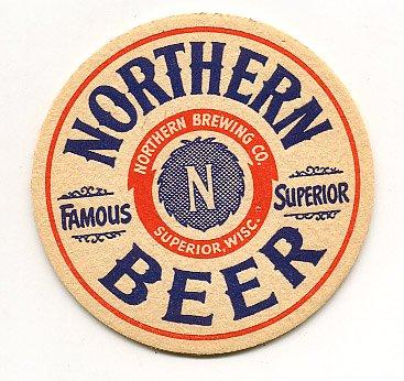 Northern Beer Coaster Superior WI 1940's