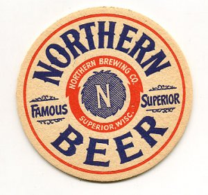 Northern Beer Coaster Superior WI 1940's