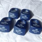 5 Corona Extra Beer Margarita Glass Clips CoronaRita Bottle (Blue) New!!
