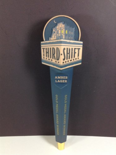 Third Shift Beer Tap Handle Draft Keg Knob