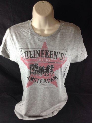 Heineken Beer Womens T-shirt Amsterdam Size Large L