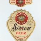 Simon Pure Beer Irtp Label Buffalo New York