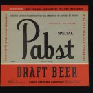 Pabst Blue Ribbon Beer Label IRTP PBR vintage 1940's