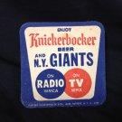 1950's NY Giants Baseball Beer Coaster Knickerbocker New York