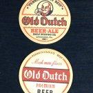 2 Old Dutch Beer Coaster Vintage Catasauqua Pennsylvania