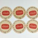 6 Schaefer Beer Coaster Vintage Brooklyn New York