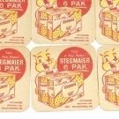 Stegmaier Beer Coasters (6) vintage wilkes-barre