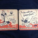 2 Old Reading Beer Coasters Reading PA
