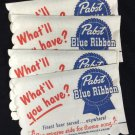 8 Pabst Blue Ribbon Beer Song Napkins 1950's