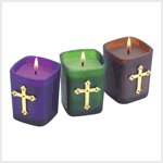 Jeweled Cross Votives