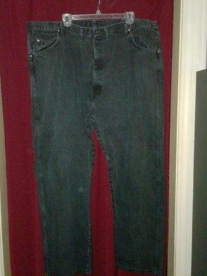 Wrangler Black Denim Jeans, size 50 x 30, Very Good Cond