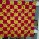 Ladybug Child or Small Throw Quilt, Handmade