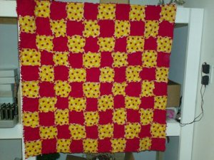 Ladybug Child or Small Throw Quilt, Handmade