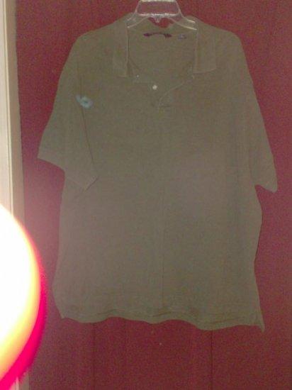 Roundtree & Yorke Polo Shirt, Dark Olive Green, Size 3X
