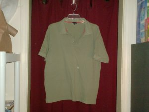 Peter Storm Olive Green Polo Shirt, Size Large
