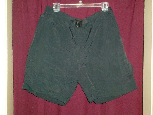 St. Johns Bay Black Nylon Mens Shorts, Size Medium