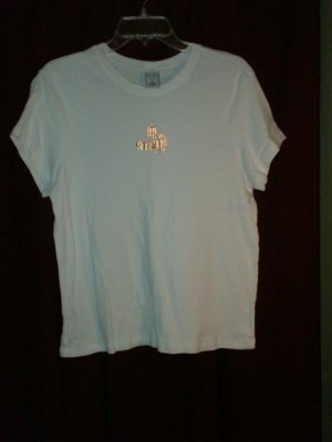Old Navy T-shirt, White w/ gold pumpkins, Size XL, Nearly New