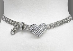 Heart Charm- Chain Belt