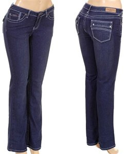 -BLUE STRETH JEANS